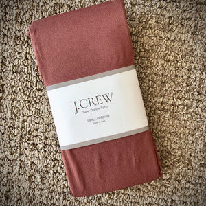 NWT! J.Crew Super Opaque Tights in Chestnut